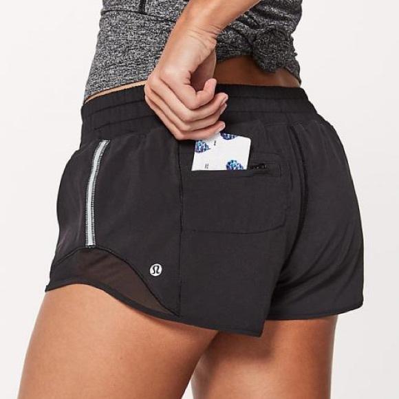 "e93b50d01 lululemon athletica Pants - Lululemon black hotty hot short 2.5"" size 4"